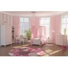 Балдахин к кровати с надстройкой Сиело розовый