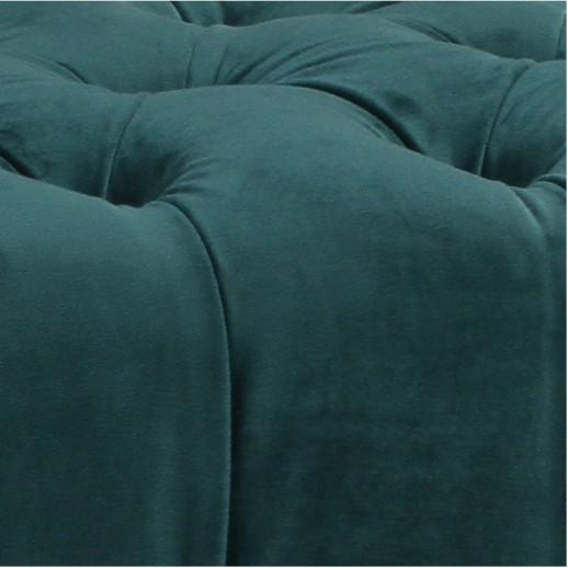 Кровать София с мягкой спинкой каретная стяжка 180х200 белый лак