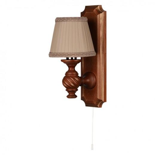 Бра Люберон основание прямоугольник коричневый дуб с золотой патиной, веревочный выключатель