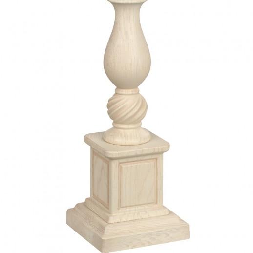 Лампа настольная Люберон бежевый дуб с коричневой патиной