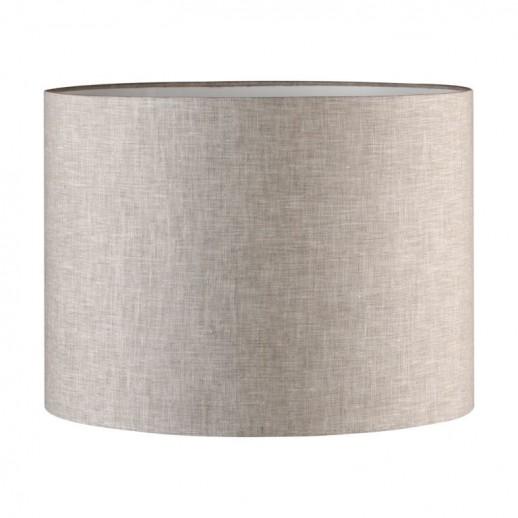 Абажур для настольной лампы из льна D400xH300, цвет светло-серый