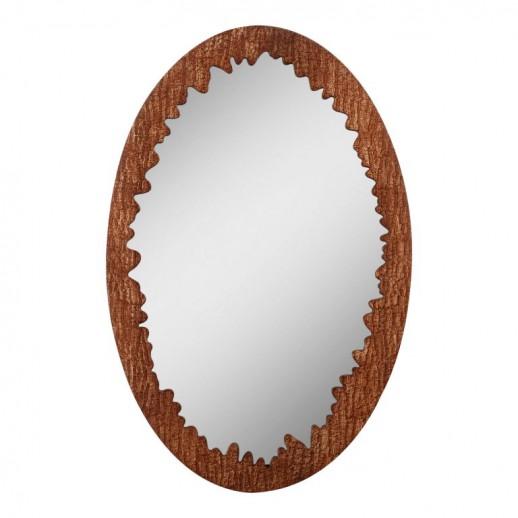 """Зеркало овальное  """"дубовая кора"""""""